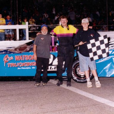 Feature Win (#282), Main Event Qualifier 100 Lap, Midvale Speedway, Aug 12, 2000