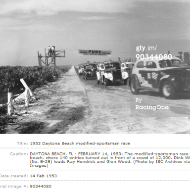 Dink Leads Mr. Modified & Woodchopper on Beach - 1953