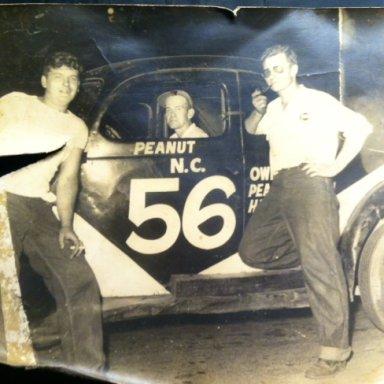 Harold Smith and Peanut Brown-far right