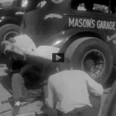 The Masons Garage cars Starkey  Speedway 1963