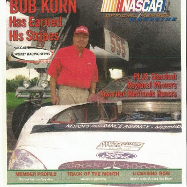 Nascar Magazine Cover -National Mechanic of the Year - Taken at Wright Patt Air Force Base