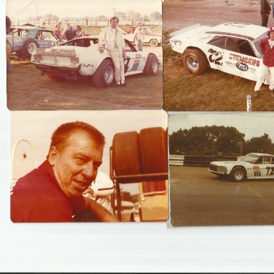 Upper left and lower right pic is John Vallo in Korn car. Upper right pic is Dick Dunlevy Jr in Bob Korn car. Lower left is Bob