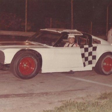 Larry Moore in Bobby Korn car 1970's
