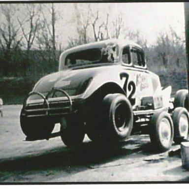 Korn 72 car on trailer