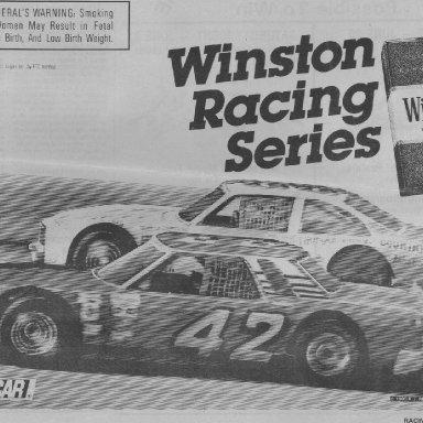 NASCAR WINSTON RACING SERIES AD