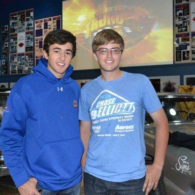 Chase Elliott and Cody Dinsmore