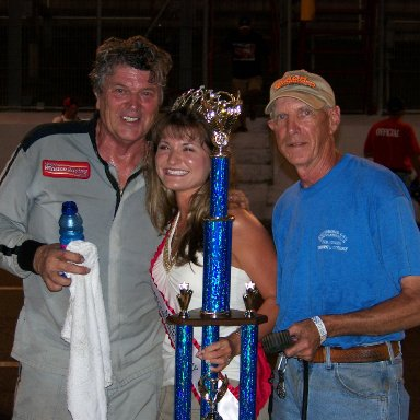 Mike Porter after winning Race  At Lonesome Pine Raceway 8-24-2007