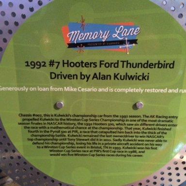 Phoenix International Raceway 50th Anniversary Display
