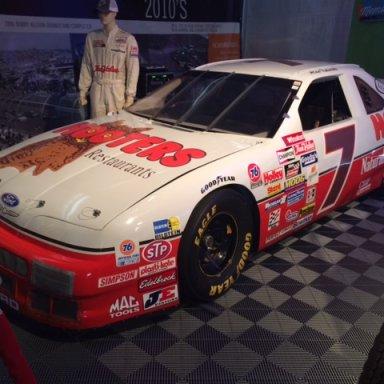 Hooters Thunderbird on display at Phoenix International Raceway