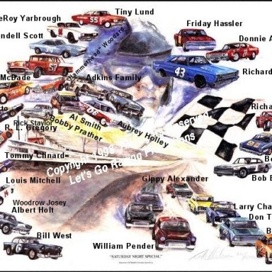 Middle Georgia Raceway Print - With Driver Names