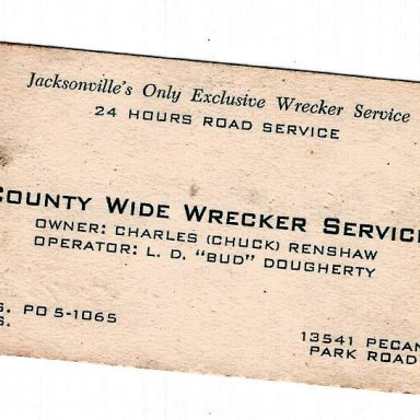 Charles Dixon Renshaw bussness card