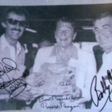Petty, Reagan and Allison-Daytona, 1984.