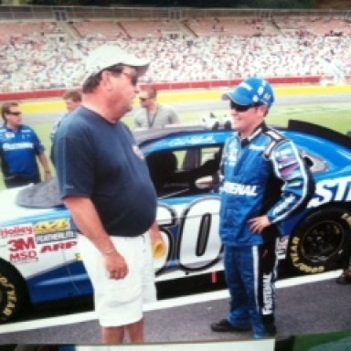 Ricky Stenhouse Jr. and Mike at Darlington