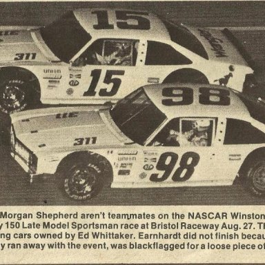 Dale Earnhardt and Morgan Shepherd