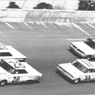 Daytona 500 1963, Fred Lorenzen, Tiny Lund, Ned Jarrett, Jimmy Pardue