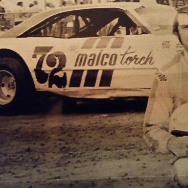 Larry Moore in Bobby Korn's car