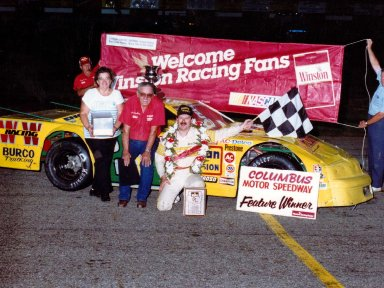 Feature Win (#186), John Nuckles Memorial 100 Lap, Columbus Motor Speedway, Aug, 6, 1989