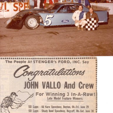 Feature Win (#78),  50 Lap, Shadybowl Speedway, June 30, 1984
