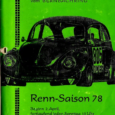 Bernbachring Racing program 1978