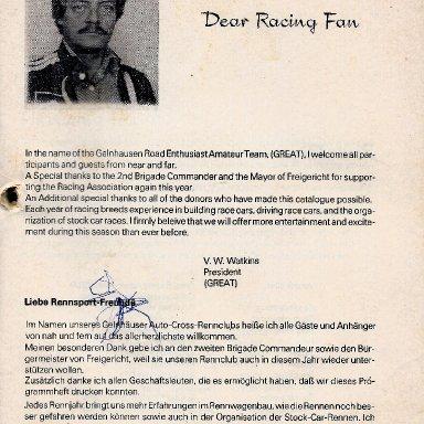 Bernbachring Racing Presdent 1978