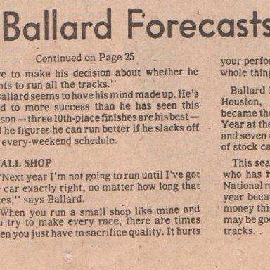 WALTER BALLARD'S FORECASTING FAIRGROUNDS FAIRWELL PHOTO #2