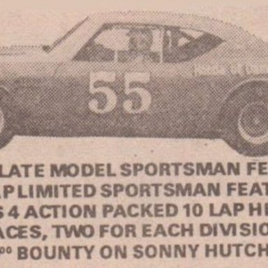 SOUTHSIDE SPEEDWAY ADVERTISEMENT PHOTO 1B FRIDAY AUG.13,1971 RICHMOND NEWS LEADER