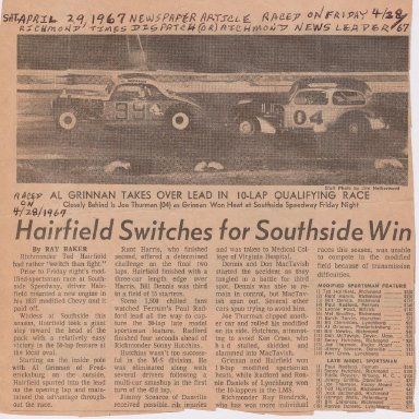 HAIRFIELD SWITCHES FOR SOUTHSIDE WIN PHOTO #1  190