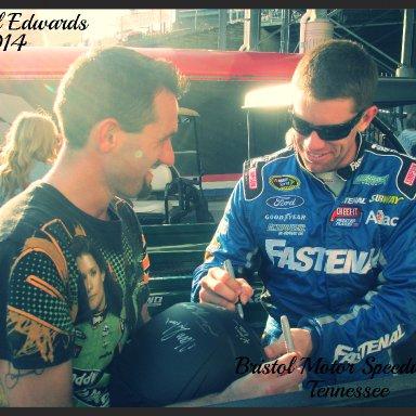 Carl Edwards and Joshua Wright