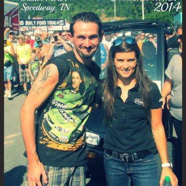 Joshua Wright and Danica Patrick