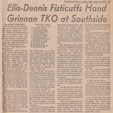 AUGUST 8, 1975 ELLIS-DENNIS FISTICUFFS