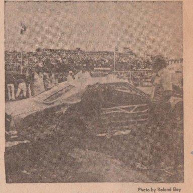 RICHMOND NEWS LEADER,MON.,AUG.5,1974 ONLY A BROKEN SHOULDER  LENNIE POND POCONO WRECK 002