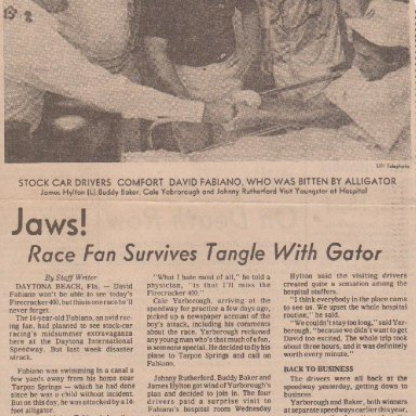 JAWS  RACE FAN SURVIVES TANGLE WITH GATOR 000