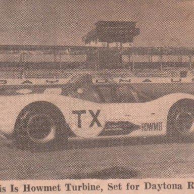# TX  HOWMET TURBINE  24 HRS. OF DAYTONA, DAYTONA  SPEEDWAY 1968 PHOTO