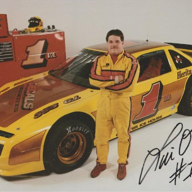 LIN O'NEILL #1VA. HERITAGE CHEVROLET-GEO LATE MODEL STOCK CLASS, WINSTON RACING SERIES 1994 RACE DRIVER POSTCARD (AUTOGRAPH ON FRONT)