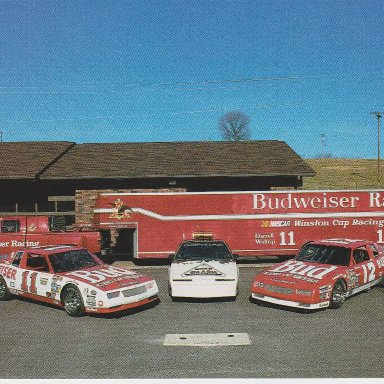 ANHEUSER-BUSCH SHOW CAR TEAM POST CARD (#1 FRONT PHOTO)
