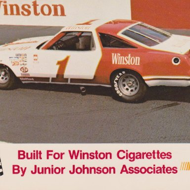 WINSTON NUMBER 1 SHOW CAR 1977 OLDSMOBILE 422 POST CARD OO4A FRONT