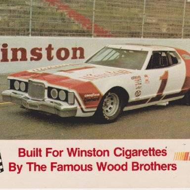 WINSTON NUMBER 1 SHOW CAR 1976 MERCURY COUGAR POST CARD OO5A FRONT