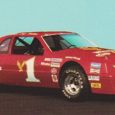 WINSTON CUP SERIES NUMBER 1 SHOW CAR FORD THUNDERBIRD POST CARD OO6C LEFT