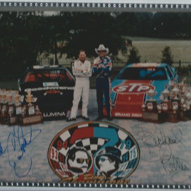 Petty Earnhardt Picture signed