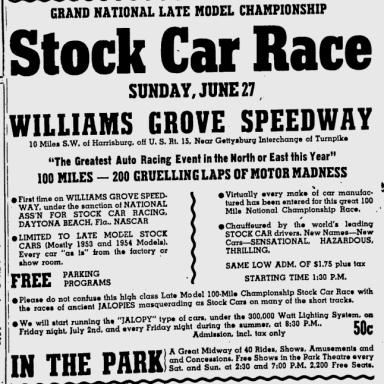1954 Williams Grove ad