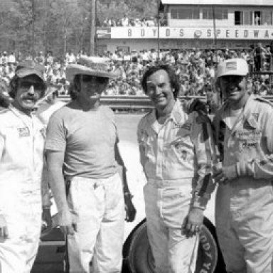 Freddy Fryar with Marty, Red, Bobby