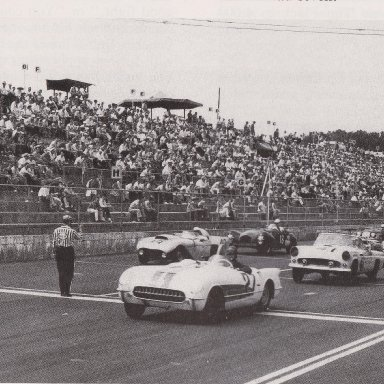 1950'S CORVETTES AND T-BIRDS RACING AT MARTINSVILLE SPEEDWAY 500 - 00