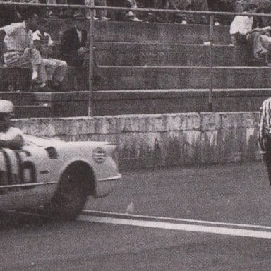 1950'S CORVETTES AND T-BIRDS RACING AT MARTINSVILLE SPEEDWAY 500 - 02