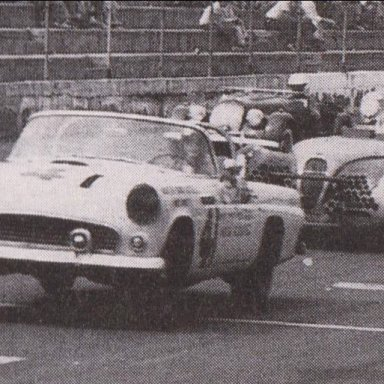 1950'S CORVETTES AND T-BIRDS RACING AT MARTINSVILLE SPEEDWAY 500 - 07