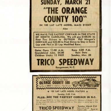 TRICO Speedway Bounty on Corvair