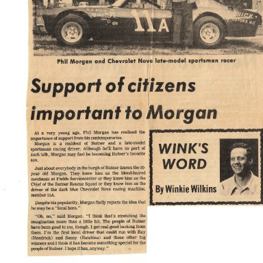 Phil Morgan support of citizens
