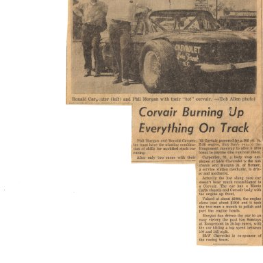 Corvair Burning up Track