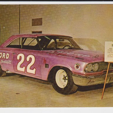 0001A #22 YOUNG FORD, THE JOE WEATHERLY STOCK CAR MUSEUM FRONT
