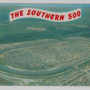1962 SOUTHERN 500, DARLINGTON RACEWAY, S.C. POST CARD FRONT