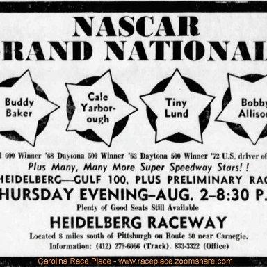 Grand National East Race - Aug 2nd,1973